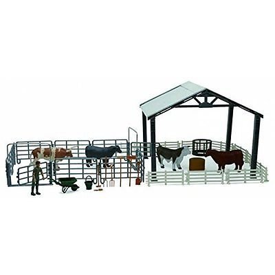 new ray 1:18 scale deluxe cattle ranch playset