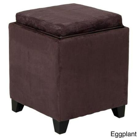Pleasing Porch Den Heymarket Pinnacle Microfiber Storage Ottoman Short Links Chair Design For Home Short Linksinfo