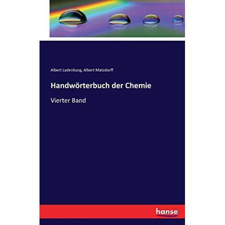 Handworterbuch Der Chemie