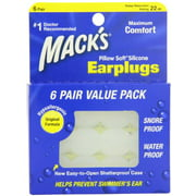 2 Pack - Macks Pillow Soft Silicone Earplugs Value Pack, 6 Count Each