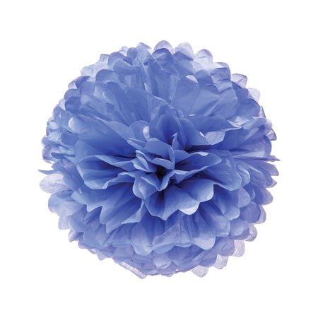 Luna Bazaar Tissue Paper Pom Pom 15 Inch Periwinkle Blue For