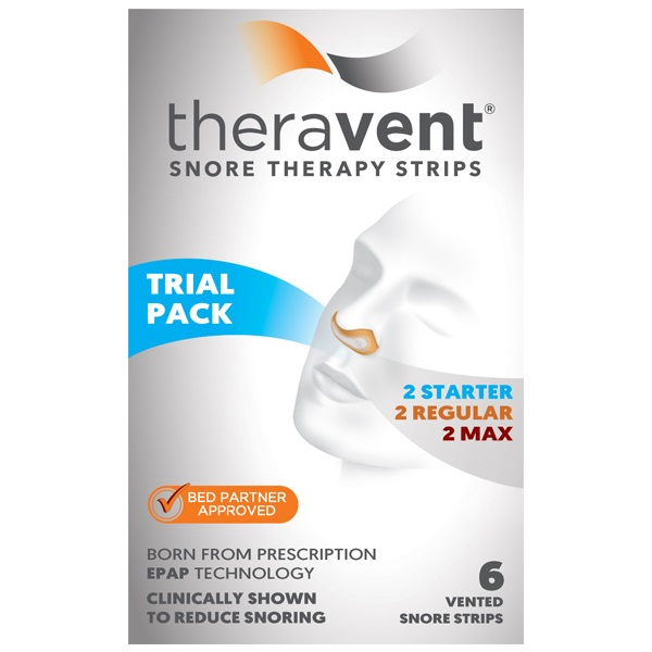 Theravent Snore Therapy Quiet Nights Flexible Seal Strips, 6 Ea