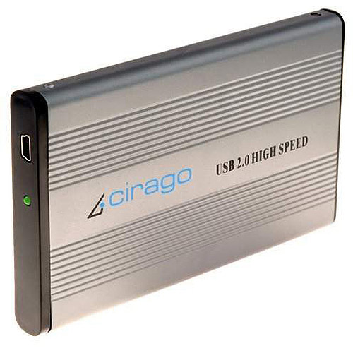 Cirago CST1080R CST1000 Series Portable Storage USB, 80 GB, Recertified Hard Drive