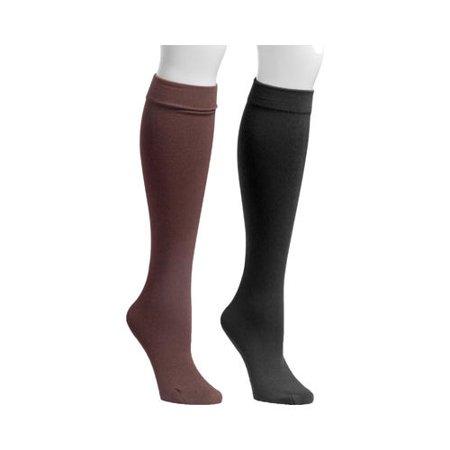 Leopard Knee High Socks - Women's Fleece Lined 2-Pair Pack Knee High Socks
