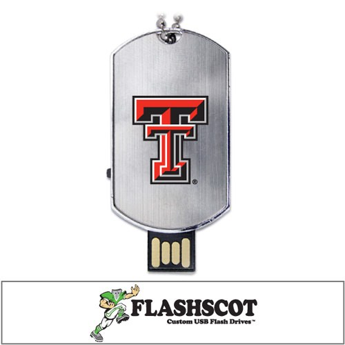 Texas Tech Red Raiders Flash Tag USB Drive - 8GB