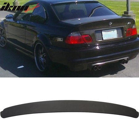 Fits 01-06 BMW E46 3 Series 2Dr Coupe Matte Black Roof Spoiler Wing -