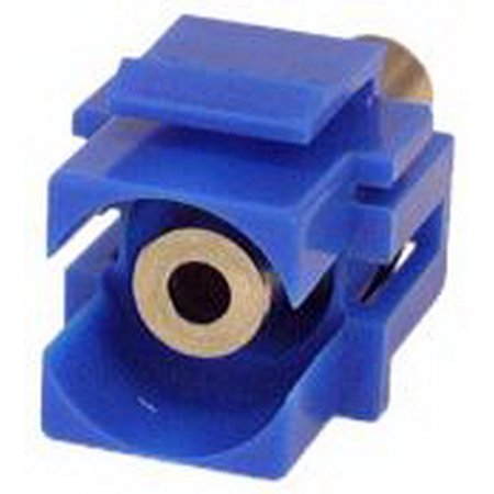 Keystone Phone - IEC RM35-BU 3.5 mm Stereo Phone Female to Female Flush Mount Keystone Connector Plate Insert Blue
