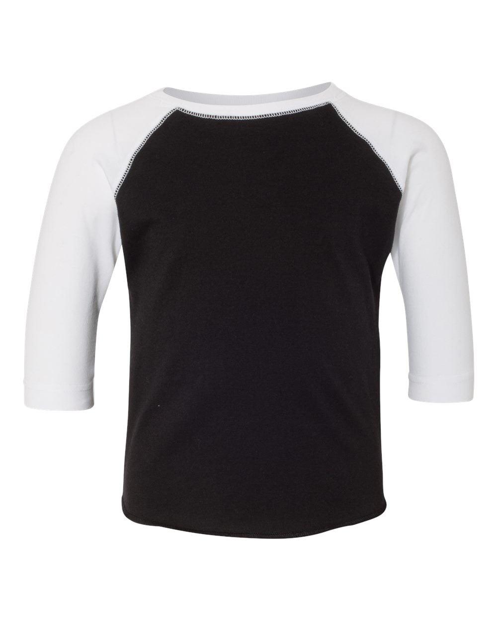 Rabbit Skins 3330 Toddler Baseball T-Shirt - Heather/ Smoke - 2 Toddler