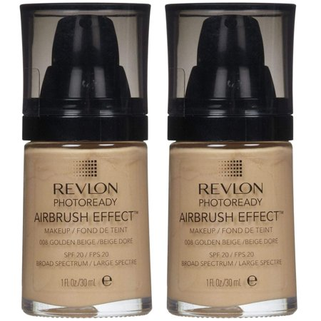 Revlon Photoready Airbrush Effect Makeup Golden Beige #008 (Pack of 2)