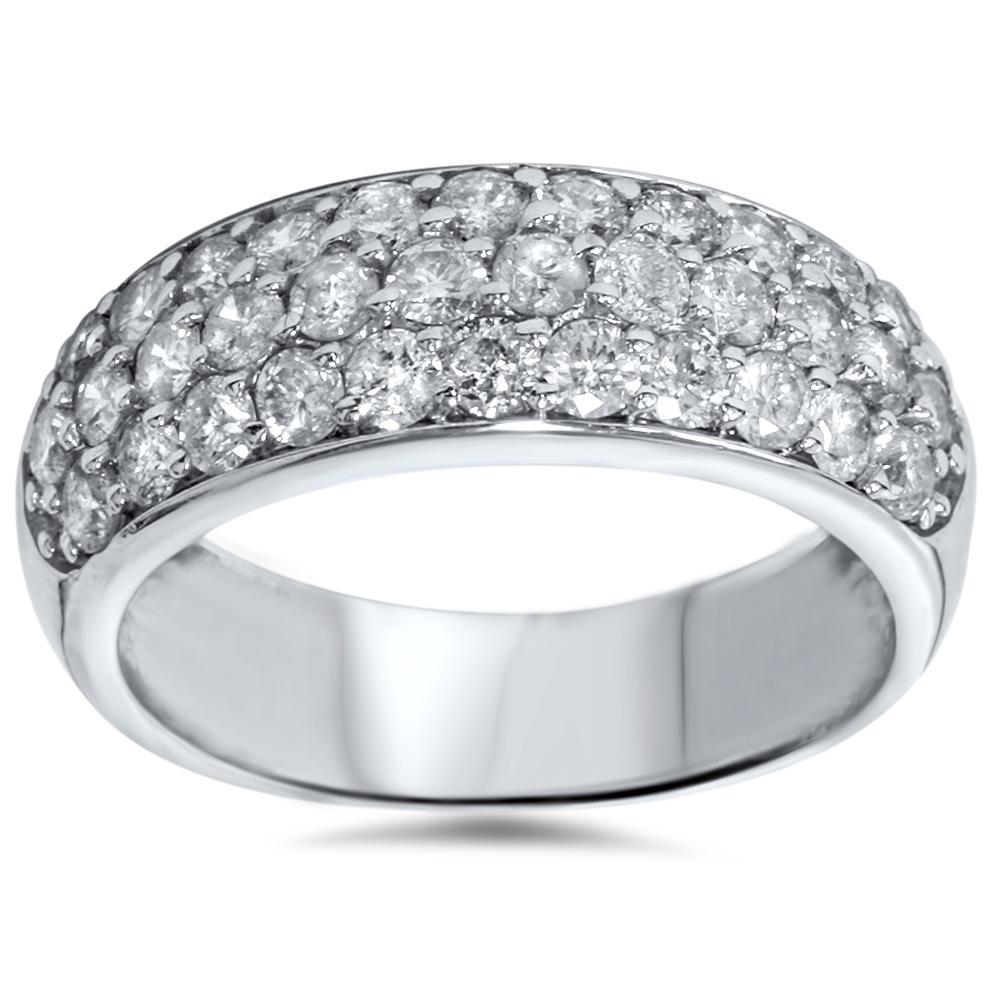 Pompeii3 1 1/2ct Pave Diamond Wedding Anniversary 14K Whi...