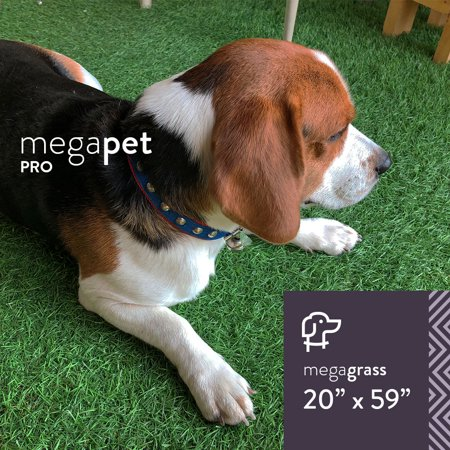 MegaGrass MegaPet Pro 20 x 59 in Artificial Grass for Pet Dog Potty Indoor/Outdoor Area Rug