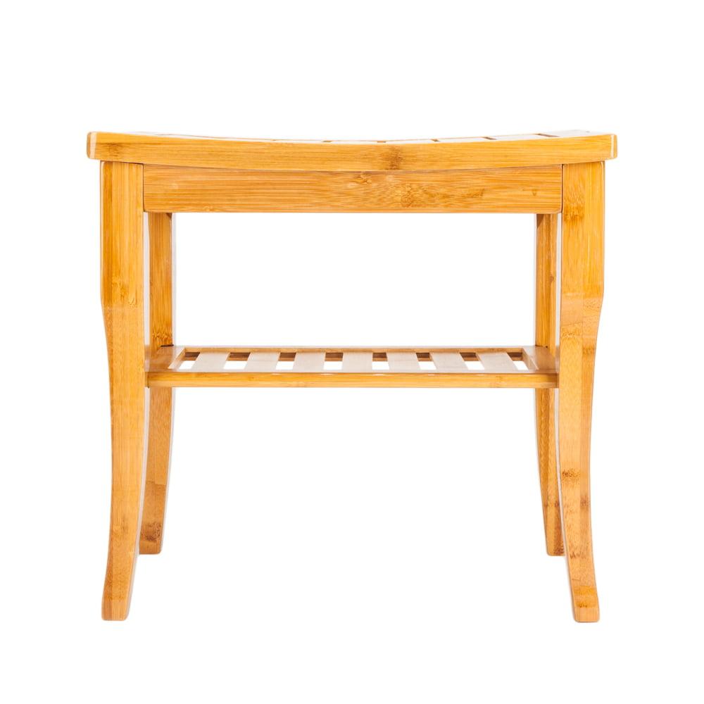 Shower Stool Wood Bathroom Bench Seat