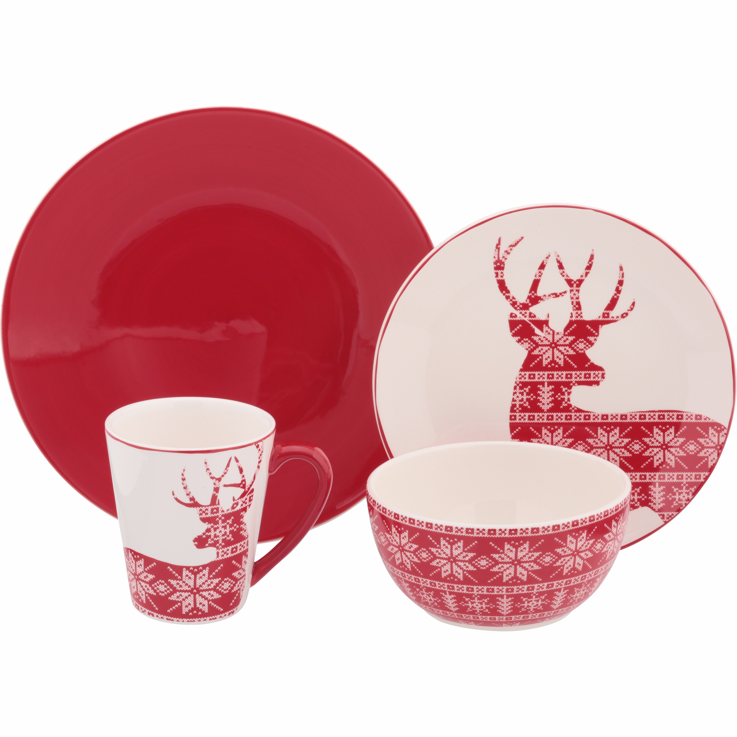 Mainstays™ Ironstone Deer Dinnerware Set Variety Pack 16 pc Box  sc 1 st  Walmart & Mainstays Dinnerware Sets - Walmart.com