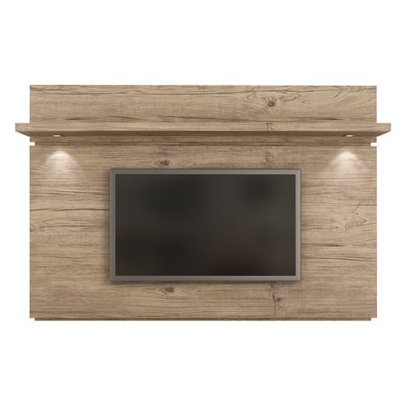 (Park 1.8 Floating Wall TV Panel with LED Lights in Nature)