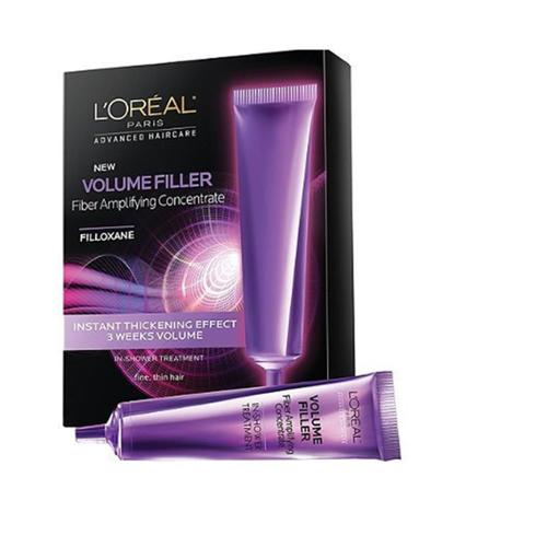 L'Oreal Advanced Haircare Volume Filler Fiber Amplifying Concentrate Ampoules 0.5 oz, 3ea (Pack of 6)