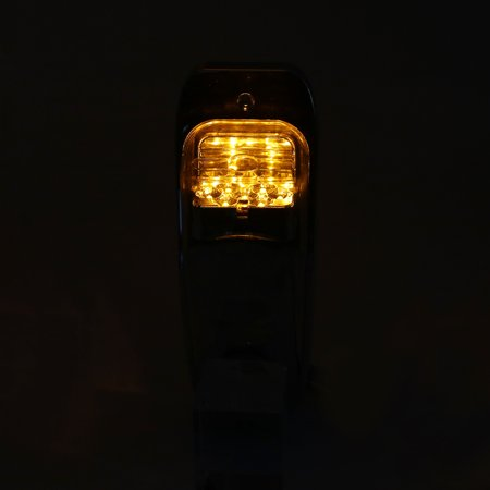 7 LED Amber Color Upper Cab Lights Chrome Housing Cab Clearance Roof Running Top Light Assembly for Peterbilt Kenworth Freightliner - image 2 of 8
