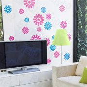 HL-6848 Color Petals - X-Large Wall Decals Stickers Appliques Home Decor