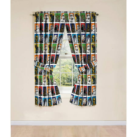 Star Wars Classic Window Boys Bedroom Curtains, Set of 2 - Star Wars Bedroom Decorations