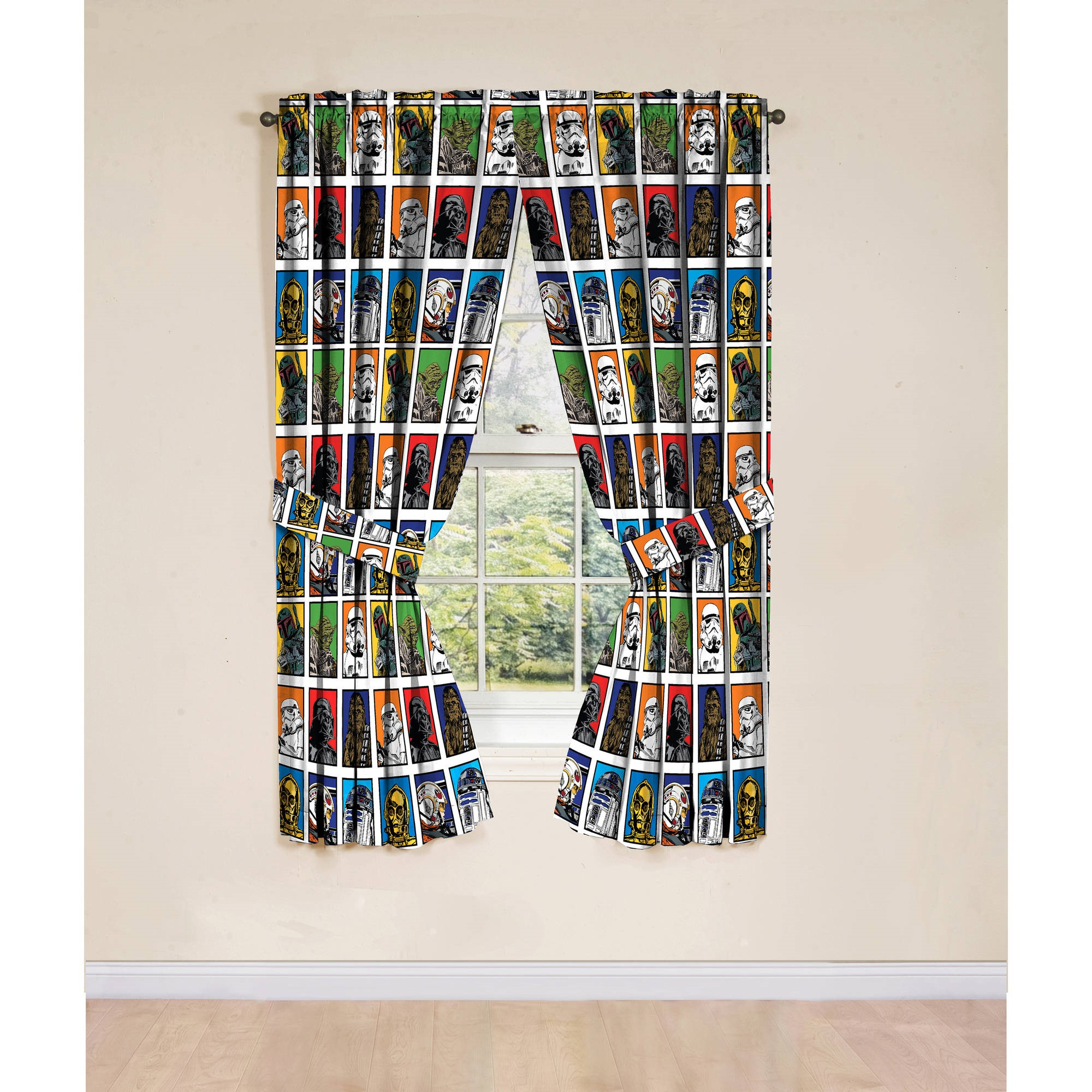 Star Wars Classic Window Boys Bedroom Curtains, Set of 2