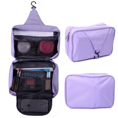 Hde Personal Travel Shower Organizer Hanging Toiletry Wash Bag Bathroom Tote Lavender