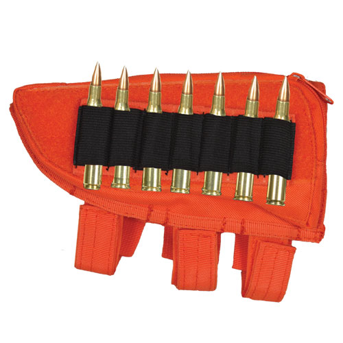 Ultimate Arms Gear Tactical Safety Orange Lefty Hand Shooters Rifle Ammo Round Hunting Stock ButtStock Carrier Holder .223 5.56 Winchester 700 Rifle