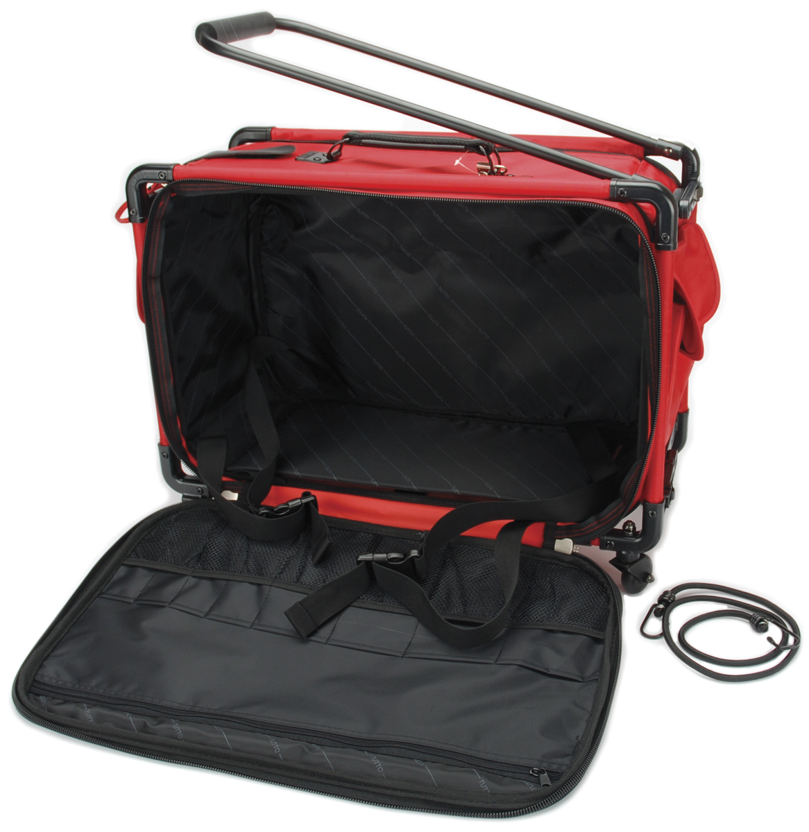 "TUTTO Machine On Wheels Case-23""X15""X12"" Red"
