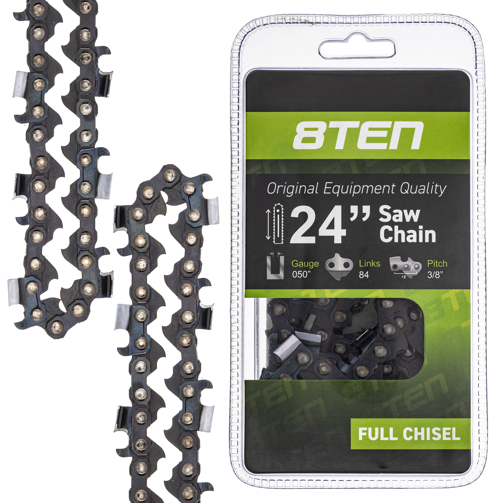 """15/"""" Guide Bar And 2 Chainsaw Saw Chains Fits Husqvarna 55 Rancher 435 440 444"""
