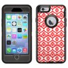 SKIN DECAL FOR Otterbox Defender Apple iPhone 6 Plus Case - Victorian Tileable Red on White DECAL, NOT A CASE Otterbox Defender iPhone 6 Plus SKIN Victorian Tileable Red on White