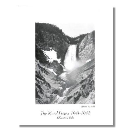 Ansel Adams B/W Photo Waterfall Yellowstone Park 1 Wall Picture 8x10 Art Print