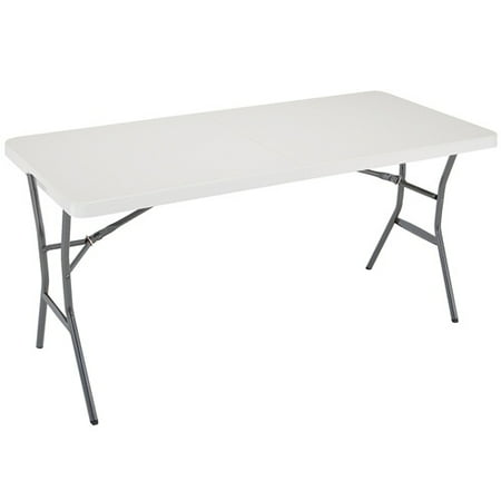 Lifetime 5-Foot Fold-In-Half Table, White