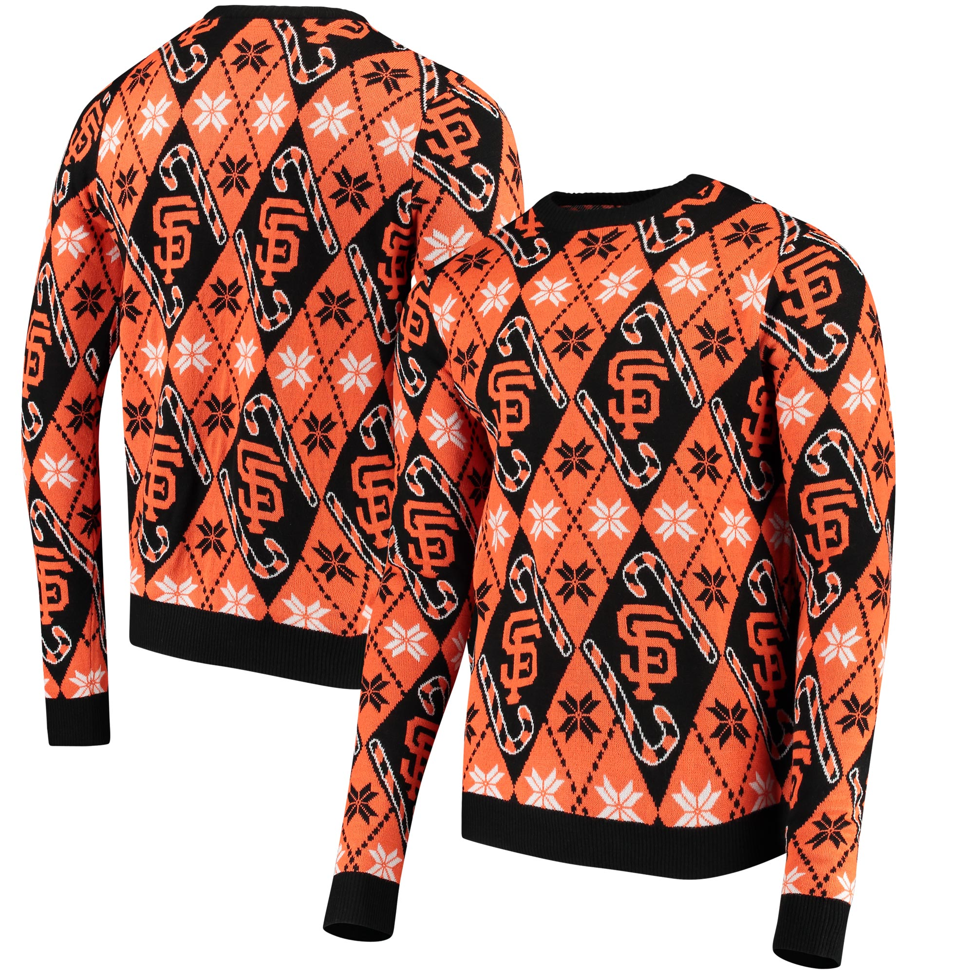 San Francisco Giants Candy Cane Repeat Sweater - Orange