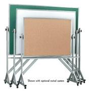 AARCO Products ARS4872G Aluminum Frame Revolving Porcelain Chalkboard on Both Sides