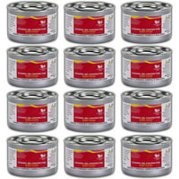 Chafing Dish Fuel Cans  Includes 12 Ethanol Gel Chafing Fuels, Burns for 2 Hours (6.43 OZ) for your Cooking, Food Warming, Buffet and Parties.