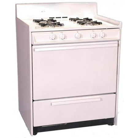 Brown - WNM210-7 - 30 Inch - Gas Range - Standard Broiler -