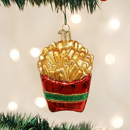 Old World Christmas French Fries Glass Blown Ornament ()