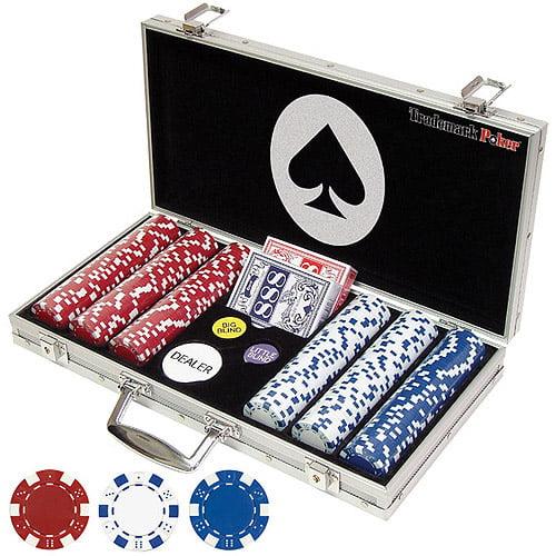 Trademark Poker Maverick 300 Dice Style 11.5g Poker Chip Set