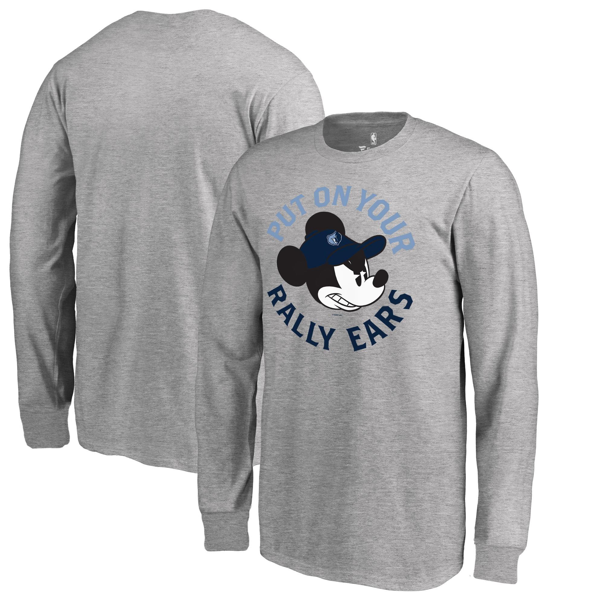 Memphis Grizzlies Fanatics Branded Youth Disney Rally Ears Long Sleeve T-Shirt - Ash