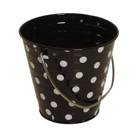 JAM Paper Metal Pail Bucket, Small, 3 3/4