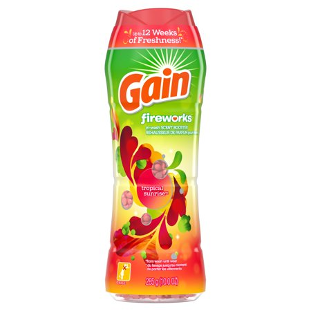 Gain Fireworks In-Wash Scent Booster Beads, Tropical Sunrise, 10 oz