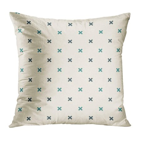 ECCOT Blue Childish Minimalist Abstract Simple Modern Mini Crosses Geometric Figures Contemporary Cross Digital PillowCase Pillow Cover 18x18 inch - Mini Pillow
