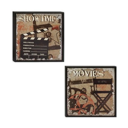 Urban Designs Movie And Showtime 2 Piece Framed Painting Print Set