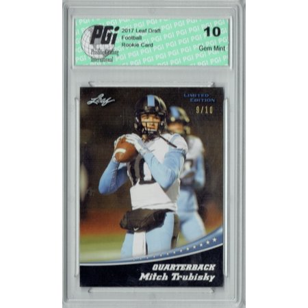 Mitchell Trubisky 2017 Leaf #11 Jersey #10/10 Made Rookie Card PGI 10 (Leafs Jersey)