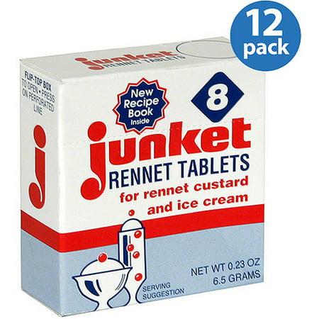 Junket Rennet Tablets, 0.23 oz, (Pack of 12) (Junket Tablets)