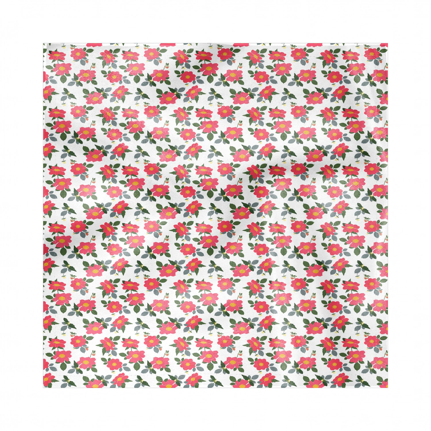 Geraniums Napkins Set Of 4 Dark Coral Colored Flowers With Buds And Leaves On Plain Backdrop Art Silky Satin Fabric For Brunch Dinner Buffet Party By Ambesonne Walmart Com Walmart Com