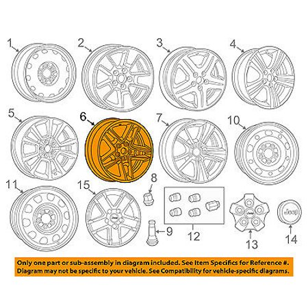 Jeep CHRYSLER OEM 11-16 Compass-Wheel-Alloy Aluminum 1QX10GSAAB