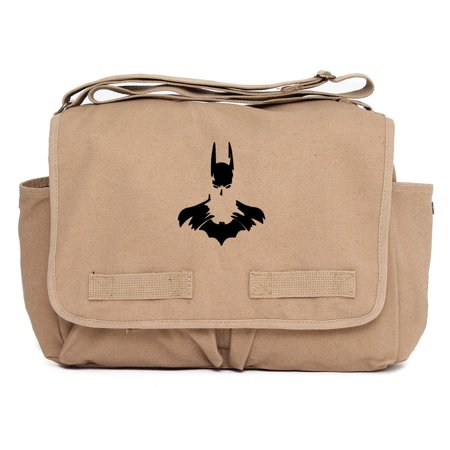 Batman Arkham Knight Laptop Messenger Bag Durable Military Canvas Shoulder