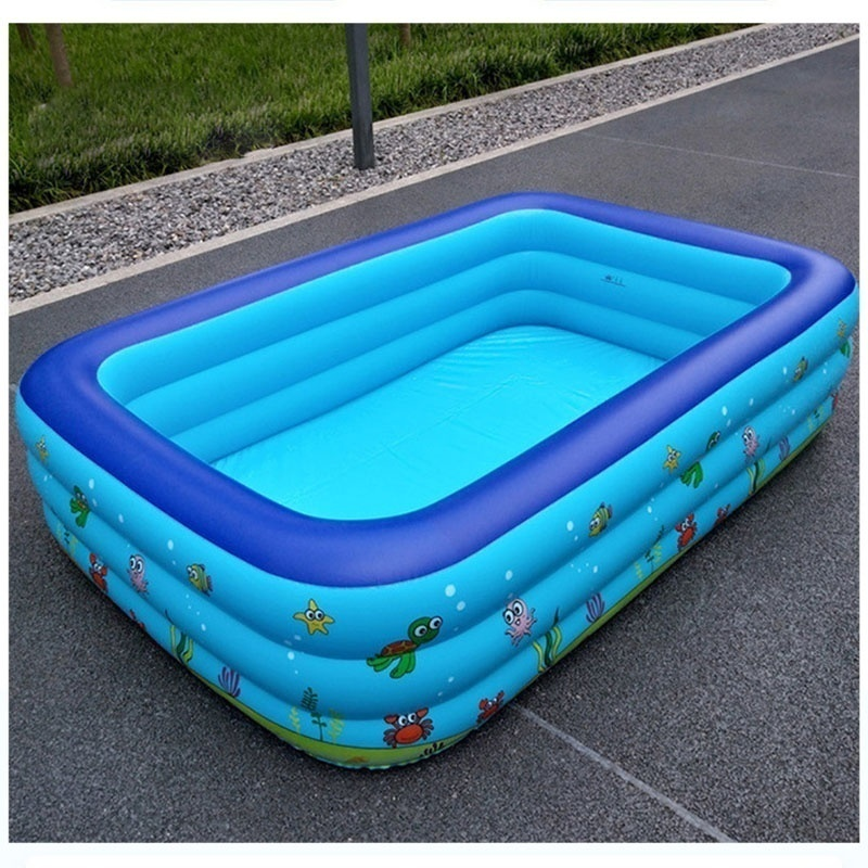 cuepar 5Sizes Inflatable Swimming Pool for Family Adult Children Baby Thick Swimming Pool
