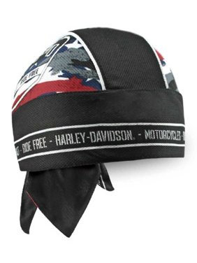 aaa0da79d4041 Product Image Harley-Davidson Men s Patriotic Grunge Perforated Headwrap