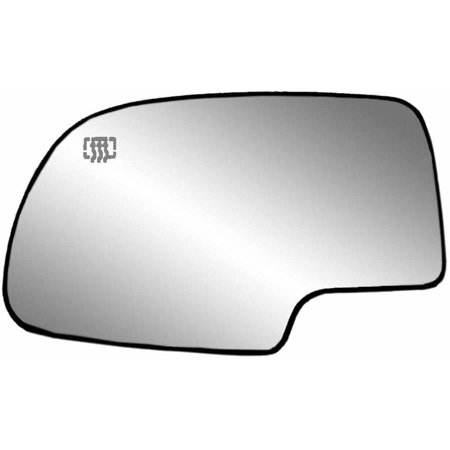 33058 - Fit System 99-07 Cadillac Escalade / Chevrolet Pick-Up Truck / GMC Pick-Up Truck Heated Replacement Mirror Glass with backing plate, Driver Side - check description for fitment