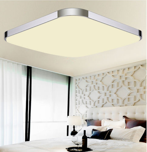 18W Square LED Ceiling Light Living Dining Room Bedroom Kitchen Lamp Warm Light by